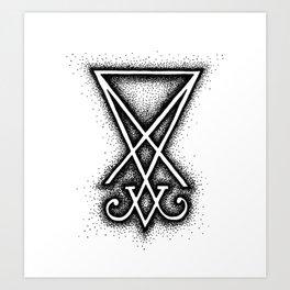 Sigil Of Lucifer Art Print