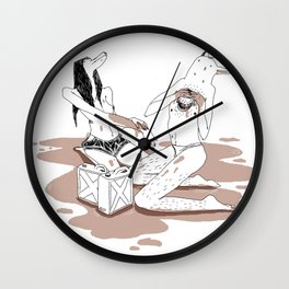 Oil me up before you go go Wall Clock