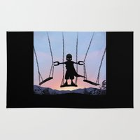 magneto Area & Throw Rugs featuring Magneto Kid by Andy Fairhurst Art