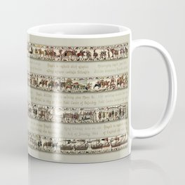 Bayeux Tapestry on cream - Full scenes and description Coffee Mug