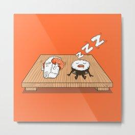 Sushi Snore Metal Print
