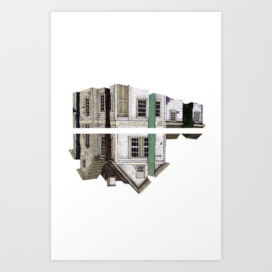 house white Art Print