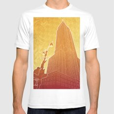 New Empire City SMALL White Mens Fitted Tee