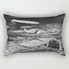 Zeppelin arrival over New Jersey Rectangular Pillow