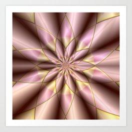 Fractal mandala flower Art Print