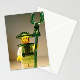 Ching Dynasty Chinese Warrior Custom LEGO Minifigure with Trans Green Armour by Chillee Wilson Stationery Cards