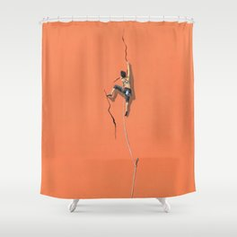 Climbing: Solitude Shower Curtain