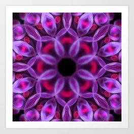 Violet Mandala for Healing Art Print