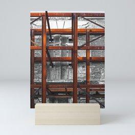 Rusted grid Mini Art Print