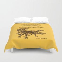 Conclusion: Dinosaurs (Color) Duvet Cover