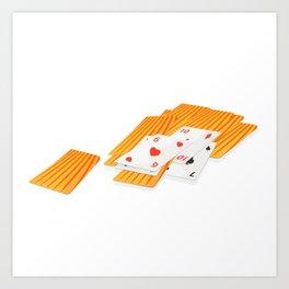 Deck of cards Art Print