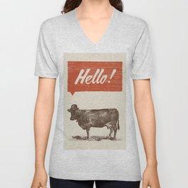 Hello ! Unisex V-Neck