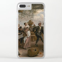 Jan Steen The Dancing Couple 1663 Painting Clear iPhone Case