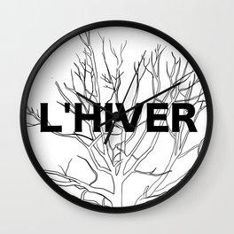 L'HIVER Wall Clock