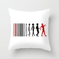 evolution Throw Pillows featuring Evolution by Artbox designs