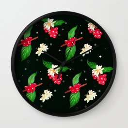 Shoujo Geisha Coffee Plant Wall Clock