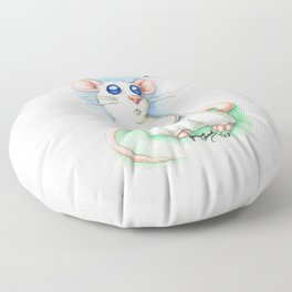 Chinese Zodiac Year of the Rat Floor Pillow