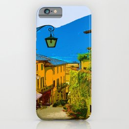 Italian alley painting travel street beautiful photography artsy breathtaking best interior design bedroom house decor gift wanderlust vintage classic iPhone Case