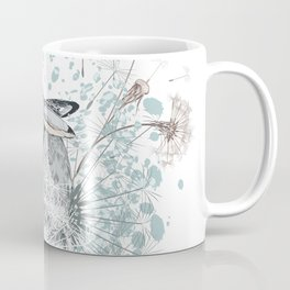 Lovely vector little rabbit with dandelions Coffee Mug