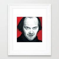 jack nicholson Framed Art Prints featuring Jack Nicholson by Alyssa Szatny