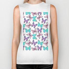 Flutter Butterfly Pattern Biker Tank