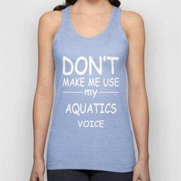 AQUATICS-tshirt,-my-AQUATICS-voice Unisex Tank Top