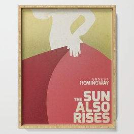 The sun also rises, Fiesta, Ernest Hemingway, classic book cover Serving Tray
