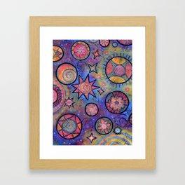 Sending Love and Healing Light Celestial Design Framed Art Print