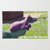teddy bear Area & Throw Rugs featuring Teddy Bear by Valeria24