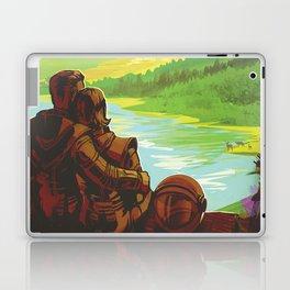 NASA Retro Space Travel Poster #2 - Earth Laptop & iPad Skin