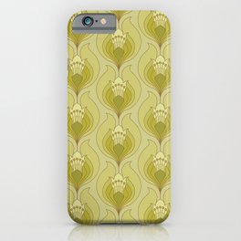 Light Green Floral Art Nouveau Inspired Pattern iPhone Case