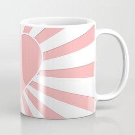 Pink Coral Valentine Love Heart Explosion Coffee Mug