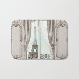 Eiffel Tower room with a view Bath Mat