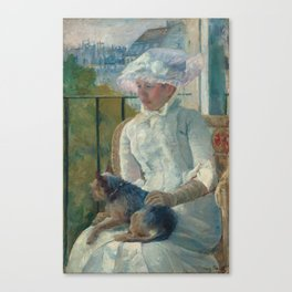 Young Girl at a Window Oil Painting by Mary Stevenson Cassatt Canvas Print