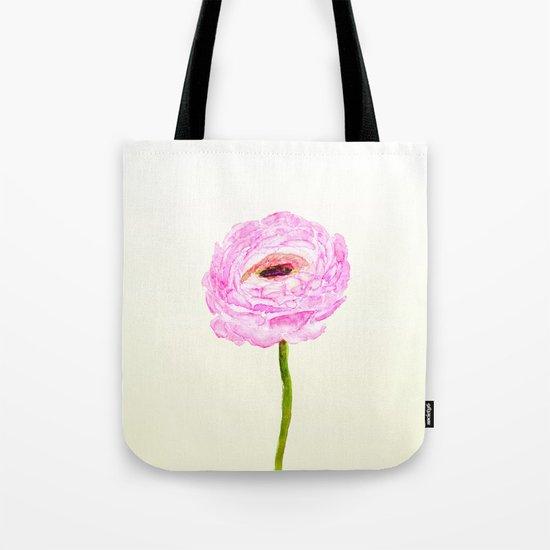 pink cultivited buttercup, Ranunculus Tote Bag