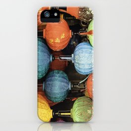 Colorful Vietnamese Lanterns iPhone Case