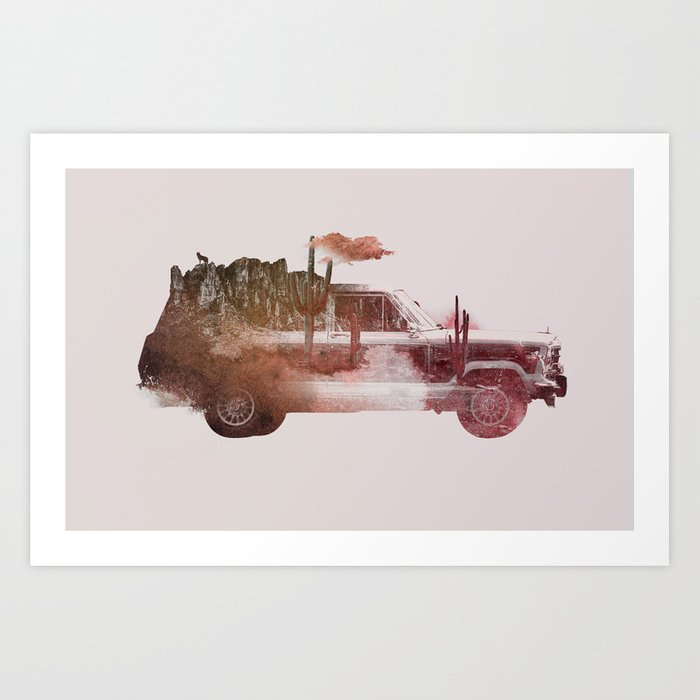Discover the motif DRIVE ME BACK HOME 2 by Robert Farkas as a print at TOPPOSTER