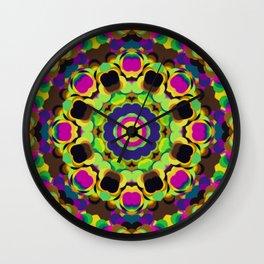 Colorful Kaliedoscopic Design ~ 081921.1 Wall Clock