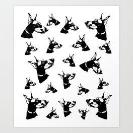 Doberman Pincher Dog Gifts Art Print