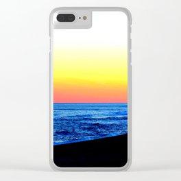 Sea Sunset Clear iPhone Case