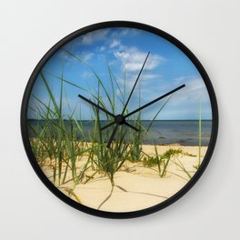 Beach Gras Impressions Wall Clock