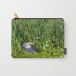 Great Blue Heron Takes Flight Carry-All Pouch
