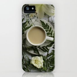 Flowers and Coffee iPhone Case