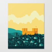 golden Canvas Prints featuring Golden castle by Roland Banrevi