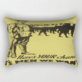 Vintage poster - Canadian Recruiting Rectangular Pillow