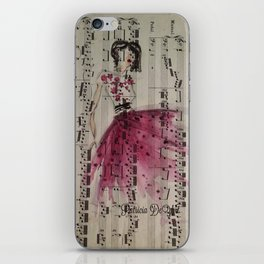 Pink Tulle and Bach iPhone Skin