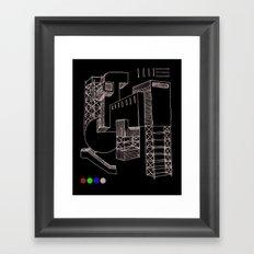 Construction Framed Art Print