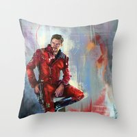 star lord Throw Pillows featuring Star-Lord by Wisesnail