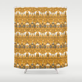 Yellow + Gray Fairy Tale Shower Curtain