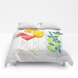 Summer Cocktail Trio Comforters
